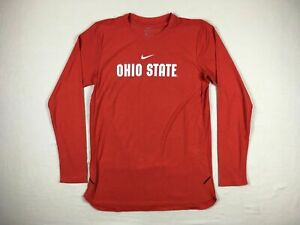 Ohio State Buckeyes Nike Long Sleeve Shirt Men's Red Dri-Fit NEW Multiple Sizes