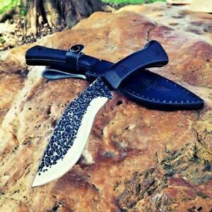 Hunting Knife Combat Fixed Blade Hand Forged Steel Tactical Survival Wild Army S
