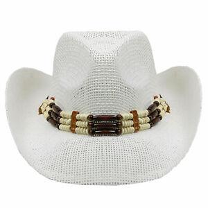 MISSMARCH Hipste AZT Vintage Womem Men Western Cowboy Hat Jazz Straw Cowboy Hat Women Men Handwork Fishing Bike Holiday Beach Big hat Sun Sun Shade s