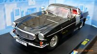 Vintage 1:18 REVELL 1961 Volvo P1800 Black Coupe Red Interior Rare Toy Car Model
