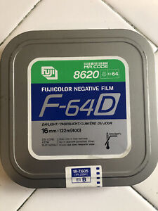 Fuji 16 MM Color Negative Sealed Old Stock F-64D 8620 400'