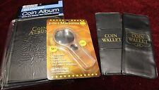 WHITMAN 60 24 12 Pocket Coin Album for 2x2 Holders Storage + 6x Magnifier 2 in 1