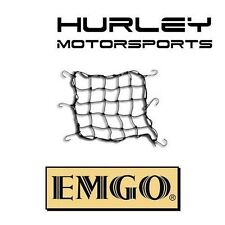 "EMGO Motorcycle 15"" x 15"" Expandable Cargo Net Bungee Tiedown 6 Hook - BLACK"