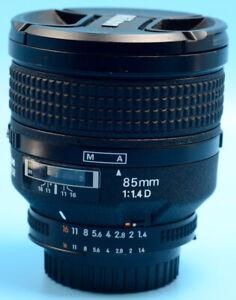 Nikon NIKKOR 85mm f/1.4 D AF Lens - Black Exc++ USA Model