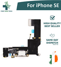 For iPhone SE Charging Port Connector Mic Headphone Jack Flex Cable White New