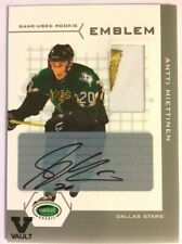 2003-04 Parkhurst Rookie Game-Used Auto Rookie Emblem Antti Miettinen Vault