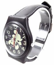 Mickey Mouse GLOW IN THE DARK Disney Character Watch by Lorus BLACK 1990s