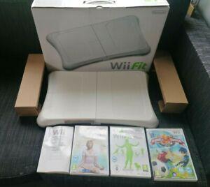 Jeu Wii VF Wii Fit + avec notice et Balance Board  en boite + 2 jeux yoga fr