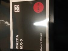 mazda mx-5 hand book /owners manual