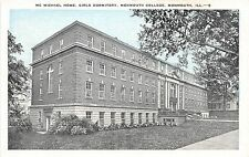 Illinois postcard Monmouth College McMichael Home, Girls Dormitory