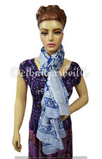 Indian Fashion Women Multi Use Long Block Print Cotton Scarf Wrap Sarong Shawl_7