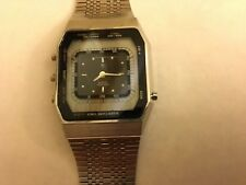 RARE VINTAGE CITIZEN CRONO STAINLESS MEN'S WATCH ALARM,CHIME,TIMER,STOPWATCH