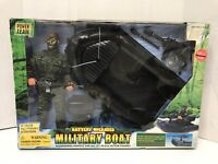 Power Team Military Boat ~Action Figure Battery Operated New