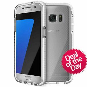 Genuine tech21 Evo Check Case Cover For Samsung Galaxy S7 Clear / White