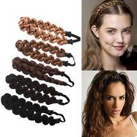Fashion Synthetic Wig Braided Hair Band Elastic Twist Headband  Princess Hair