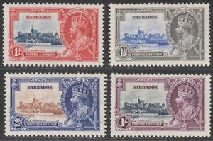 Barbados 1935 KGV Silver Jubilee Set Mint SG241-244 cat £32