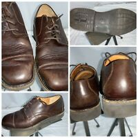 Mephisto Cap Toe Oxford Shoes Sz 8 Men Brown Leather Portugal EUC YGI A0S-71