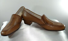 "Vintage Brown  Foot so Port Slip on Low with Chunky 1 1/2 "" Heels Size 7.5 AA"