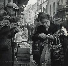 1955 Vintage 11x14 MARKET Woman Flowers Shop France Photo Art By ROBERT DOISNEAU