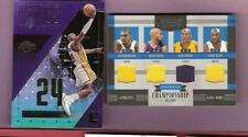 Kobe Bryant 4 GAME USED JERSEY CARD #d23/25 1 OF 1 +KINGS OF COURT INSERT LAKERS