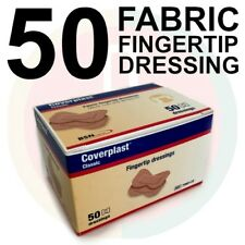 50 X FABRIC BANDAID Fingertip FIRST AID Made in Germany QUALITY HOSPITAL GRADE