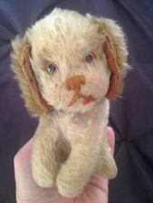 "RARE Vintage Schuco Yes/No Mechanism Puppy Dog Red Tongue Mohair 5"" Works Well"