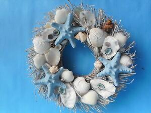 "Sea Shell Wreath (10""-11"" ) Coastal Home Decor"