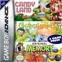 Candyland / Chutes & Ladders / Memory Game - Nintendo Game Boy Advance