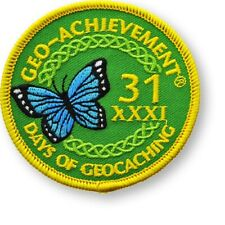 31 DAYS OF GEOCACHING GEO-ACHIEVEMENT EMBROIDERED PATCH