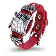 Hot Anime Attack on Titan Punk Bracelet Wristband Watch Style Cosplay Prop Gift