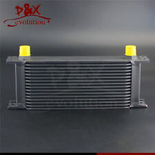 Universal 16 Row AN10 Engine Transmission 248mm 10-AN Oil Cooler Black