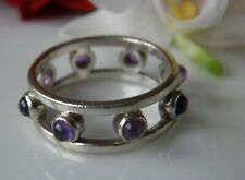 Designer Memory Band Ring 925° Silber echt Amethyst Gr. 57 sehr edel 1990 R636