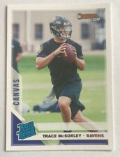 2019 Panini Donruss Football Parallel Canvas Rated Rookie Trace McSorley