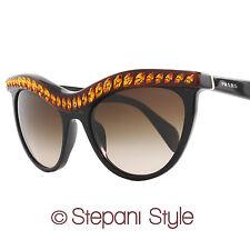 Prada Sunglasses SPR04P NAC-6S1 Shiny Black/Amber 04PS