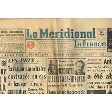 Le MÉRIDIONAL 13 Janvier 1959 Bezouce Le Cailar Ledenon Langlade Beaucaire Nimes