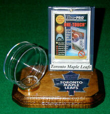 Toronto Maple Leafs NHL Sports Card Display Hockey Puck Holder Logo Gift