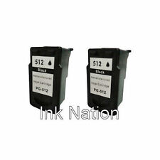 2x Canon PG512 Black Remanufactured Ink Cartridges