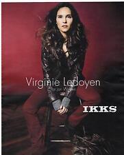 PUBLICITE ADVERTISING 2011  IKKS vetements portés par Virgignie Ledoyen