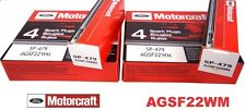 SET OF 10 MOTORCRAFT SPARK PLUG PLATINUM SP479 AGSF22WM