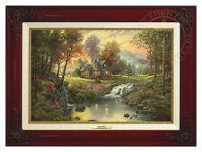 Thomas Kinkade Mountain Retreat Canvas Classic (Brandy Frame)
