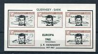 GUERNSEY-SARK JFK SHEET UNMOUNTED MINT