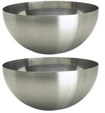 "IKEA 2 serving bowls 11"" large stainless steel salad food dinner utensil BLANDA"