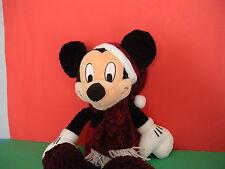 "Disney Mickey Mouse Christmas 16"" Plush Velour Santa Holiday Boys & Girls 3 +"