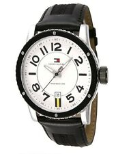 New Authentic Tommy Hilfiger Watch 1790675 Razor Fashion White Dial  Free Wallet
