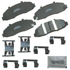 Disc Brake Pad Set-Ceramic, Includes Pad Installation Hardware Front CARQUEST