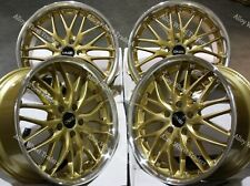 "Alloy Wheels 18"" 190 For Audi A3 S3 A4 S4 Cabriolet B5 B6 B7 B8 B9 5x112 Gold"