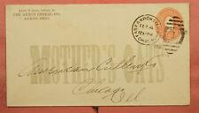 1901 AKRON CEREAL CO MOTHER'S OATS ADVERTISING STATIONERY AKRON OH