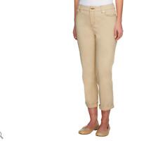 6d532f48127bd Liz Claiborne New York Petite Jackie Cuffed Pants Color WHITE Size 16 Petite