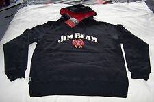 Jim Beam Authentic Mens Black Embroidered Warm Hoodie Jumper Top Size S New