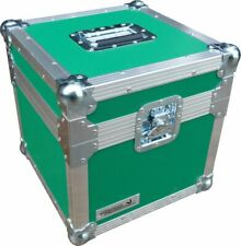 "Flight Case Swan 12"" Single LP 100 Vinyl Record Box (Green Rigid PVC)"